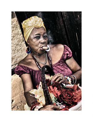 Lady with cigar, Havana Cuba